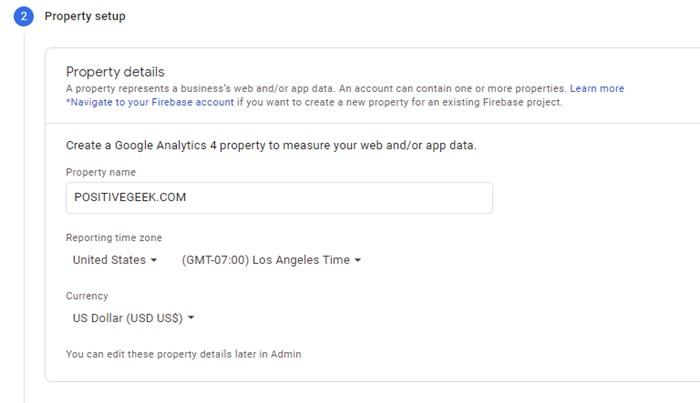 Google Analytics Account Property Setup
