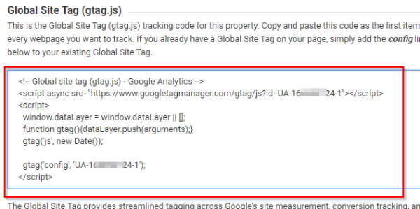 Google analytics javascript code