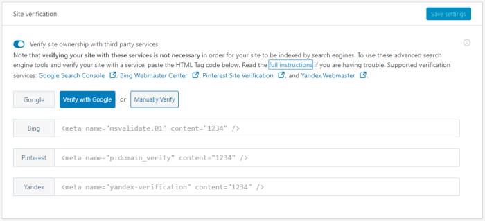 Jetpack Site verification