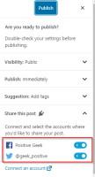 Jetpack Social sharing