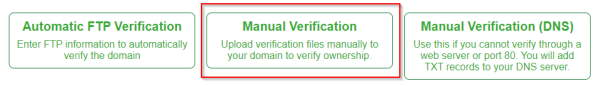Manual verification for SSL for free