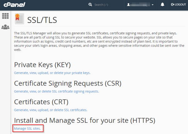Paste SSL Certificate Keys