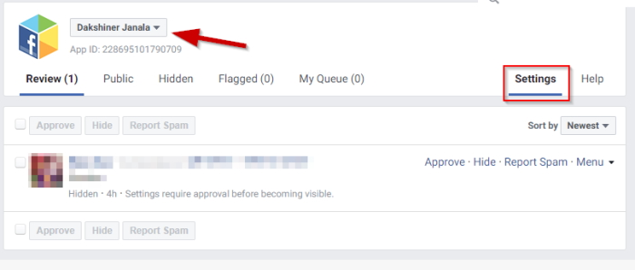 Facebook comment moderation