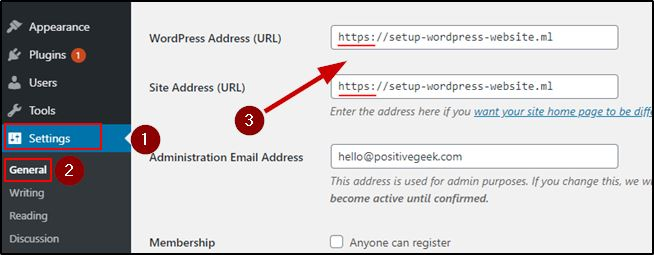 Add https to WordPress Address and Site Address