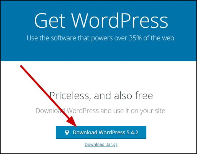 Download WordPress from official website