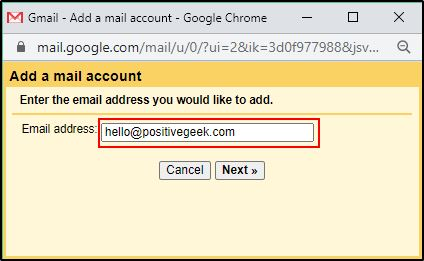 Gmail Chek mail from other accounts settings 2