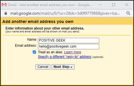 Set up Gmail to send mails using email with a custom domain 2