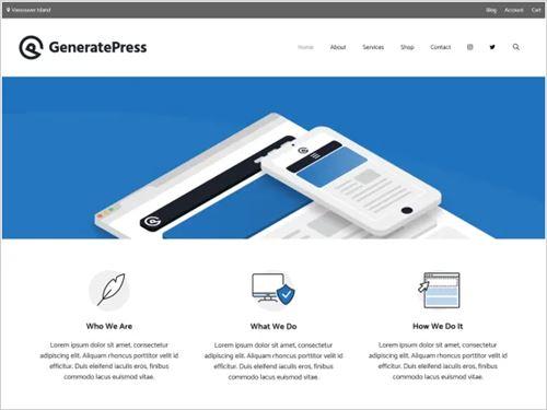 GeneratePress theme image
