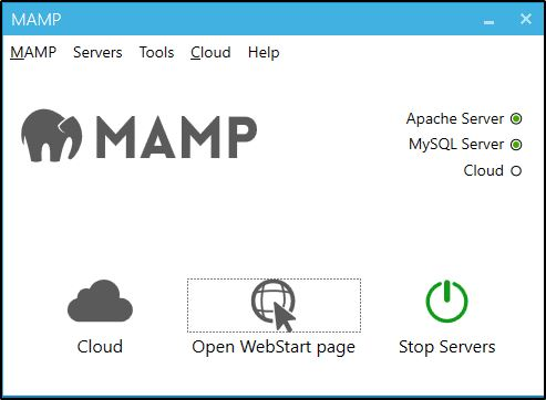 MAMP application window