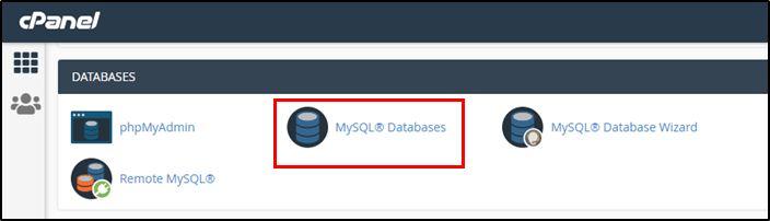 MySQL Databses on cPanel