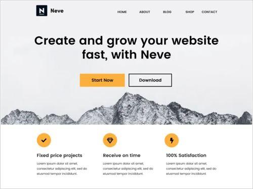 Neve theme image