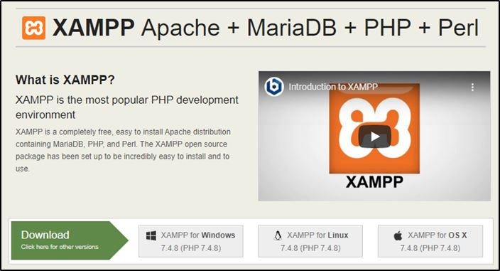 XAMPP Download page