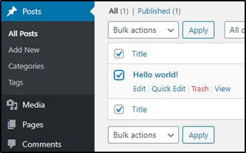 Delete Default Post On Wordpress