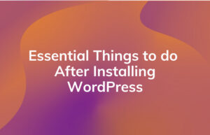 Read More About The Article 13 Essential Things To Do After Installing Wordpress.