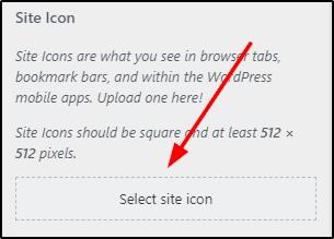 Set Site Icon On Wordpress