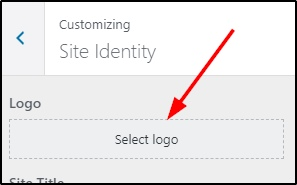 Set site logo on WordPress