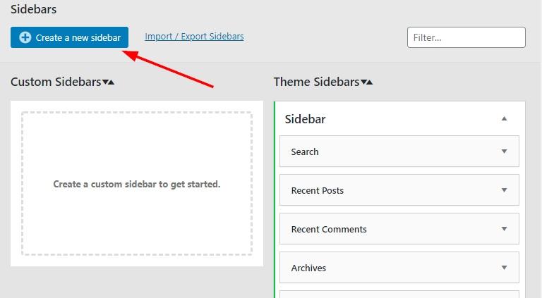 Create custom sidebars on WordPress
