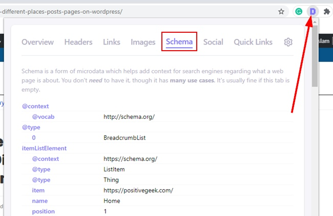 Detailed SEO Chrome Extension