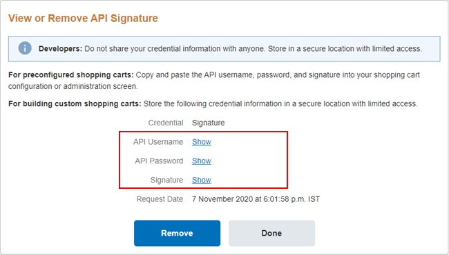 Get PayPal Live API Credentials(Username, Password, and Signature)