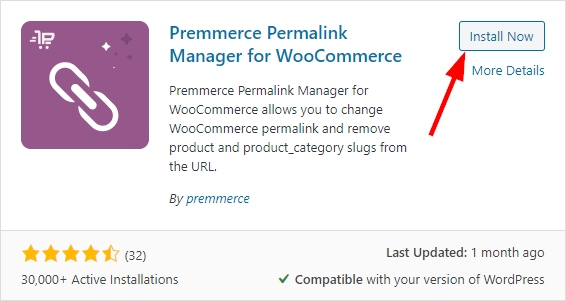 Premmerce Permalink Manager for WooCommerce plugin installation