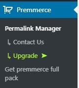 Premmerce Permalink Manager menu