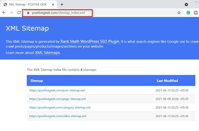 Rank Math Seo Index Sitemap Url