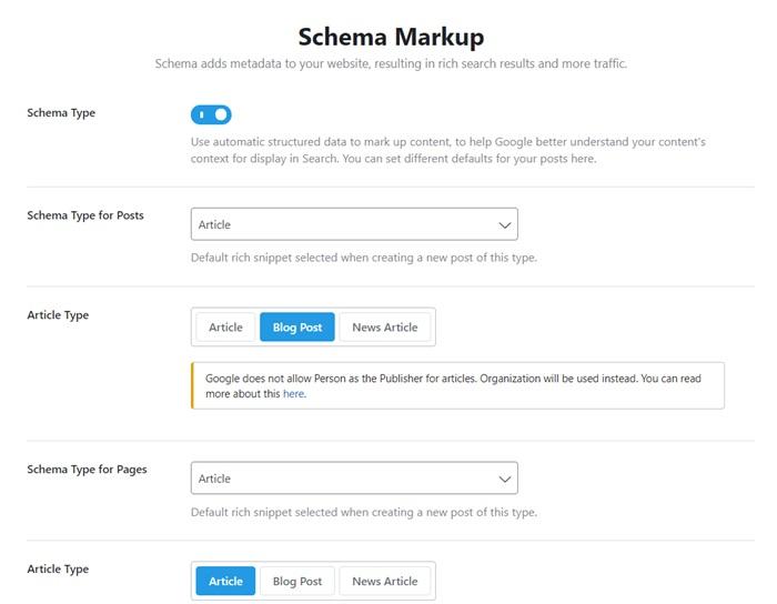 Rank Math Seo Schema Markup Setup