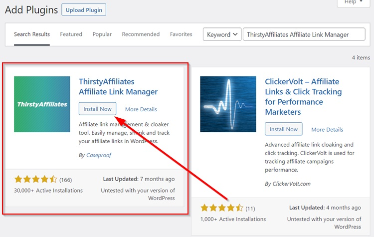 Thirstyaffiliates Affiliate Link Manager Installation